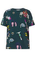 Mary Katrantzou Symbol Print Jersey T-Shirt - Lyst