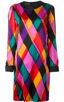 Louis Feraud Vintage Colourblock Dress - Lyst