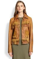 Polo Ralph Lauren Fringed Leather Jacket - Lyst
