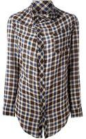 Etoile Isabel Marant Asymmetric Plaid Shirt - Lyst