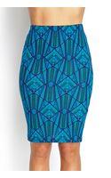 Forever 21 Knit Tribal Print Skirt - Lyst