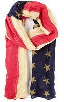 Ralph Lauren American Flag Scarf - Lyst