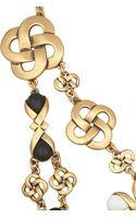Oscar de la Renta Gold-tone Resin Necklace - Lyst