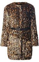 Nina Ricci Leopard Print Coat - Lyst