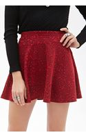 Forever 21 Rose Pattern Skater Skirt - Lyst