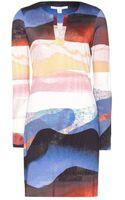 Diane Von Furstenberg Reina Printed Silkjersey Dress - Lyst