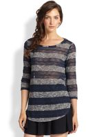 Splendid Sheer Striped Sweater - Lyst