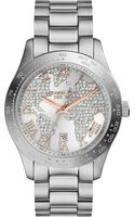 Michael Kors Layton Stainless Steel Watch Silver - Lyst