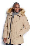 Michael Kors Michael Halden Faux-fur-trim Hooded Down Anorak - Lyst