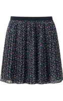 Uniqlo Women Chiffon Pleated Print Mini Skirt - Lyst