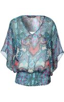 Jane Norman Paisley Printed Gypsy Top - Lyst