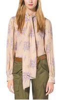 Michael Kors Floral-print Silk-georgette Blouse - Lyst
