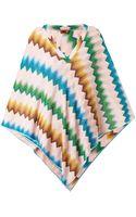 Missoni Mare Chevron-knit Metallic Poncho - Lyst