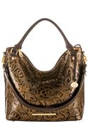 Brahmin Norah Embossed Leather Tote Bag - Lyst