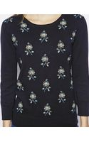 NW3 By Hobbs May Jumper with Cross Stitch Flower Design - Lyst