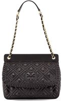 Tory Burch Marion Quilted Leather Shoulder Bag Black - Lyst