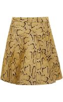 Stella McCartney Yellow Python Print Aline Skirt - Lyst