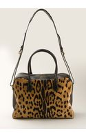 Balmain Black Pony Leather Pierre Bag with Leopard Print - Lyst