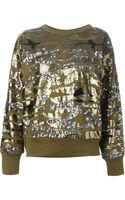 Isabel Marant Sequin Sweater - Lyst