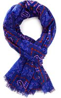 Forever 21 Frayed Tribal Print Scarf - Lyst