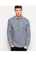 Selected Slim Fit Check Shirt - Lyst