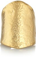 Kenneth Jay Lane Hammered Goldplated Cuff - Lyst