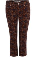 McQ by Alexander McQueen Lace Print Skinny Jeans - Lyst