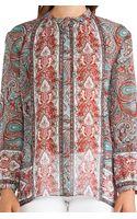 Rachel Zoe Violet Peasant Neck Tie Blouse - Lyst