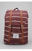Herschel Supply Co. Retreat Rust Stripe Backpack - Lyst