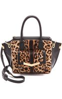 Time's Arrow Haircalf Mini Jo Tote Leopard - Lyst