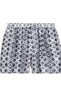 Balmain Printed Silk Shorts - Lyst