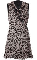 Anna Sui Dove Print Dress - Lyst