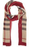 Burberry Checked Woven Scarf - Lyst