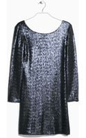 Mango Sequin Dress - Lyst