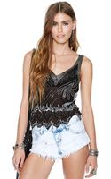 Nasty Gal Disco Down Sequin Top - Lyst