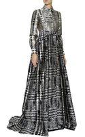 Carolina Herrera Jacquard Trench Gown - Lyst
