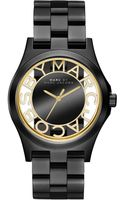 Marc By Marc Jacobs Womens Henry Black Ionplated Stainless Steel Bracelet 40mm - Lyst
