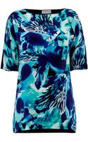 Mary Portas Orchid Print Silk Mix Tee - Lyst