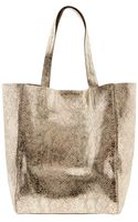Banana Republic Ashbury Python Tote Gold - Lyst