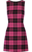 Alice + Olivia Jolie Plaid Twill Mini Dress - Lyst