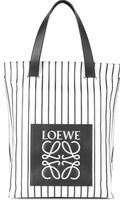 Loewe Striped Leather Shopper Bag - Lyst