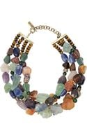 Etro Tigers Eye Sodalite and Amethyst Necklace - Lyst