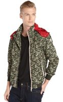 Moncler Green Camo Printed Nylon Hooded Rufin Jacket - Lyst