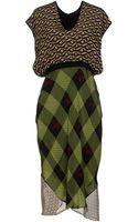 Cher Michel Klein Kneelength Dress - Lyst