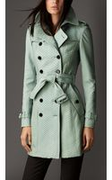Burberry Midlength Python Trench Coat - Lyst