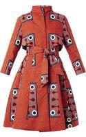 Stella Jean Clara Tribalprint Aline Trench Coat - Lyst