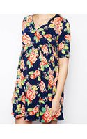 Asos Maternity Wrap Dress in Pansy Floral Print - Lyst