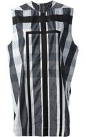 Rick Owens Checked Shift Dress - Lyst