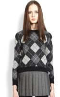 Saint Laurent Argyle Sweater - Lyst