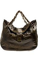 Zagliani Python Skin Shoulder Bag - Lyst